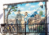 Murals at motel in Tombstone, Arizona - D6-C3-0570 - 72 ppi