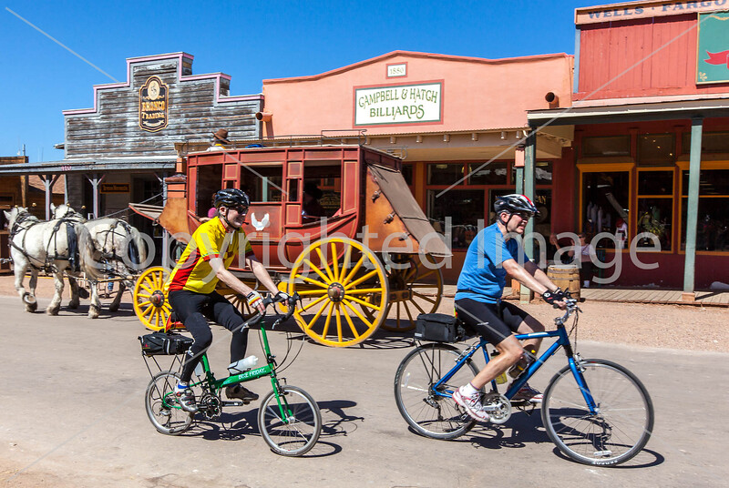 ACA - Cyclist on Allen Street in Tombstone, Arizona - D6-C2-0163 - 72 ppi