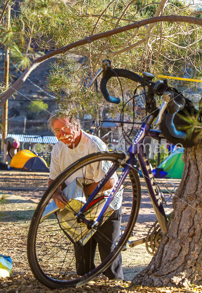 ACA - Cyclists and staff in camp in Bisbee, Arizona - D6-C1-0091 - 72 ppi
