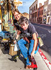 ACA - Cyclists test cowboy boots in downtown Bisbee, Arizona - D5-C2-0338 - 72 ppi