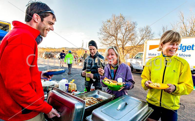ACA - Cyclists & staff at breakfast in Tombstone, Arizona - D4-C2- - 72 ppi-3