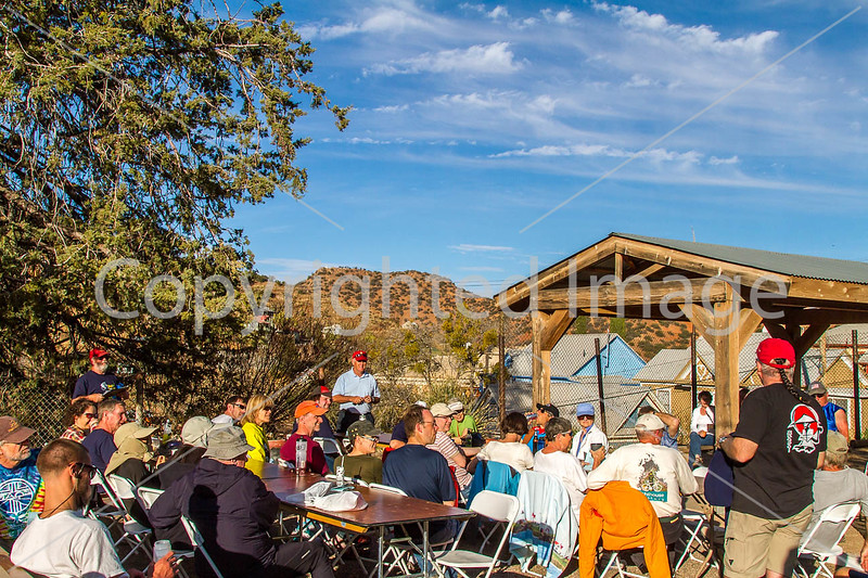 ACA - Cyclists and staff in camp in Bisbee, Arizona - D4-C3-0371 - 72 ppi