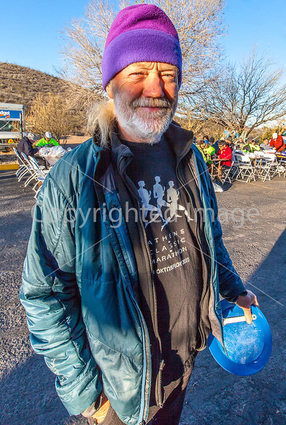 ACA - Cyclists & staff at breakfast in Tombstone, Arizona - D4-C2- - 72 ppi