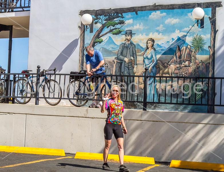ACA - Cyclists at motel in Tombstone, Arizona - D6-C3-0572 - 72 ppi