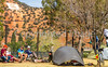 ACA - Cyclists and staff in camp in Bisbee, Arizona - D4-C3-0344 - 72 ppi