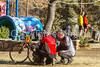 ACA - Cyclists and staff in camp in Bisbee, Arizona - D6-C1-0118 - 72 ppi