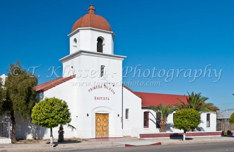 A church, Primera Iglesia Bautista in Tucson, Arizona, USA.