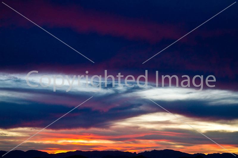 Sunset over Dragoon Mts  in southeast Arizona -  D7-C3 -0294 - 72 ppi