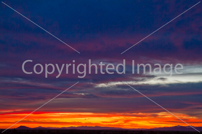 Sunset over Dragoon Mts  in southeast Arizona -  D7-C3 -0295 - 72 ppi