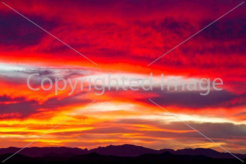 Sunset over Dragoon Mts  in southeast Arizona -  D7-C3 -0276 - 72 ppi