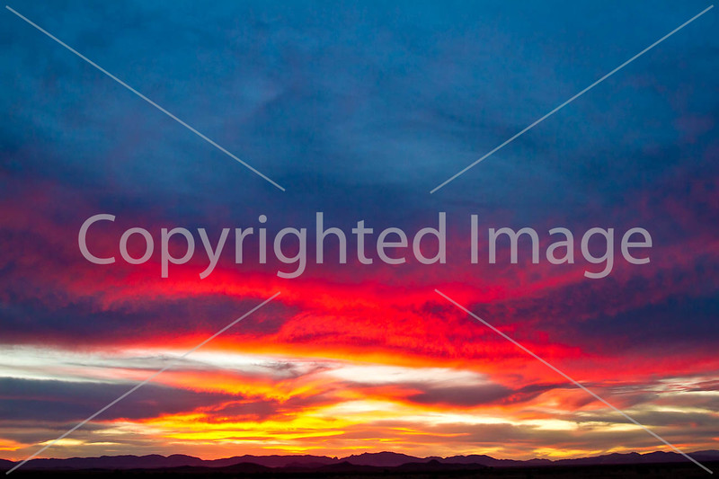 Sunset over Dragoon Mts  in southeast Arizona -  D7-C3 -0275 - 72 ppi