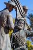 Mormon Battalion sculpture at Tucson's Presidio, AZ - C1 -0060 - 72 ppi