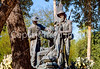 Mormon Battalion sculpture at Tucson's Presidio, AZ - C3- - 72 ppi