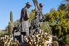 Mormon Battalion sculpture at Tucson's Presidio, AZ - C3-0164 - 72 ppi