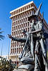 Mormon Battalion sculpture at Tucson's Presidio, AZ - C2-0096 - 72 ppi
