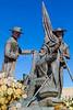 Mormon Battalion sculpture at Tucson's Presidio, AZ - C3-0175 - 72 ppi