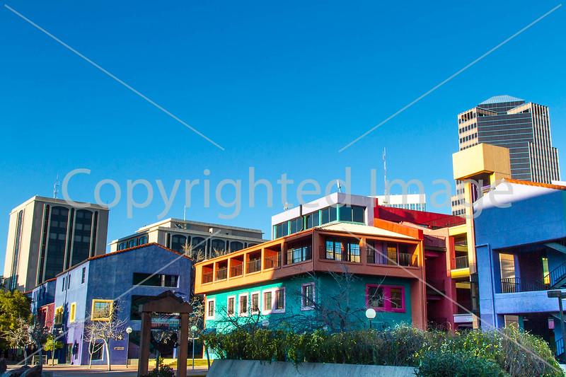 Colorful buildings in downtown Tucson, AZ - C3-0011 - 72 ppi
