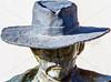 Wyatt Earp & Doc Holliday statue at train station in Tucson, AZ - C1 -0016 - 72 ppi