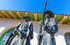 Wyatt Earp & Doc Holliday statue at train station in Tucson, AZ - C2-0052 - 72 ppi