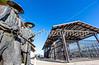 Wyatt Earp & Doc Holliday statue at train station in Tucson, AZ - C2-0061 - 72 ppi