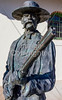 Wyatt Earp & Doc Holliday statue at train station in Tucson, AZ - C2-0039 - 72 ppi