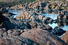 AZ 044                          Morning light on the Granite Dells of Watson Lake, Prescott, Arizona.