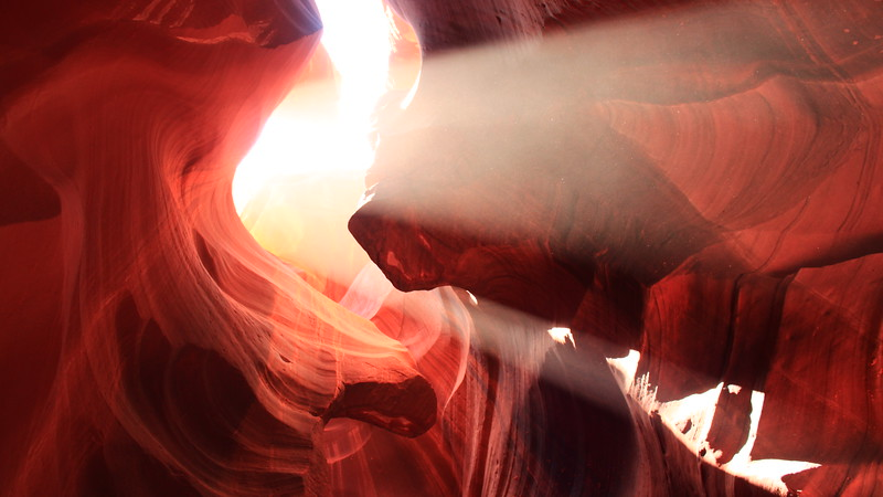 Upper Antelope Canyon, Page Arizona located on the Navajo nation. This slot canyon is accessible by Navajo guide
