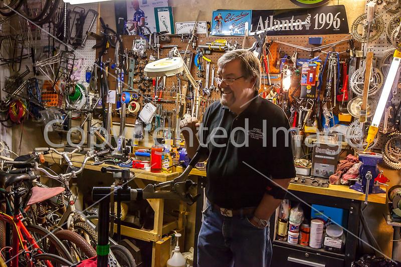 Ken Wallace, Proprietor of Bisbee Bicycle Brothel in Bisbee, Arizona - D5-C2-0097 - 72 ppi
