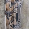 Buckskin Mtn restaurant door