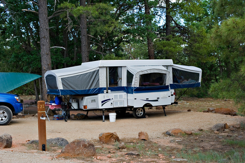 RM_camper_7007489<br /> Rock Crossing Camp Ground near Blue Ridge Reservoir in Happy Jack Arizona.  Breaking in our new camper for the 1st time.