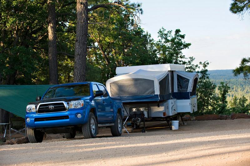 RM_truck_camper_7007215<br /> Rock Crossing Camp Ground near Blue Ridge Reservoir in Happy Jack Arizona.
