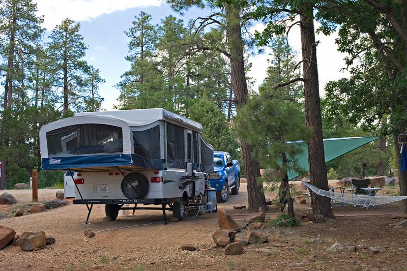 RM_camper_7007493<br /> Rock Crossing Camp Ground near Blue Ridge Reservoir in Happy Jack Arizona.