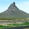 Picacho Peak, off I-10, between Tucson and Phoenix. Also a state park with a campground and hiking.
