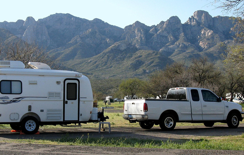 My campsite at Catalina State Park