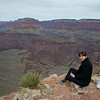 viewpoint at Skeleton point, in the Grand Canyon about half-way down on the South Kaibab trail