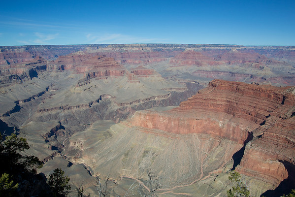 views from the Grand Canyon rim trail.