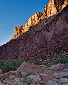 North Canyon debris fan - last light - Supai Group - Mile 20.4