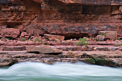 North Canyon rapid - lower Supai Group - Watahomigi Formation - Mile 20.4 First night campsite