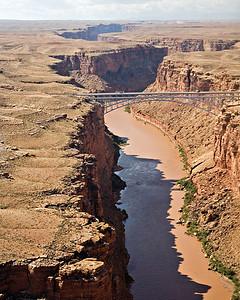 Marble Canyon - Navajo Bridge - Return flight landing approach - Marble Plateau