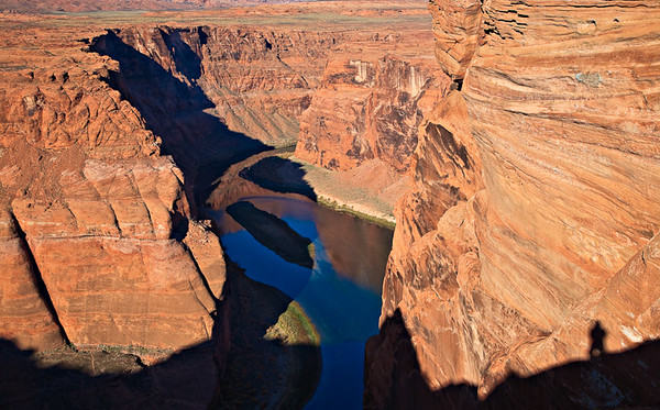Photographer self portrait Colorado River - early morning