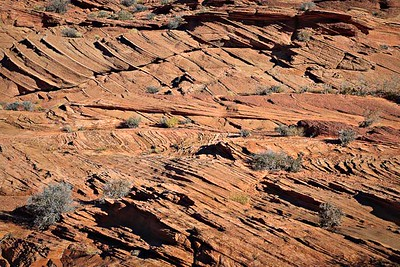 Multiple, large scale dune crossbed sets Navajo Sandstone, Jurassic