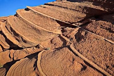 Nodular, crossbedded dune sandstone Navajo Sandstone, Jurassic