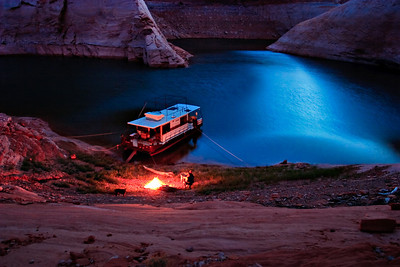 Moki Canyon by campfire