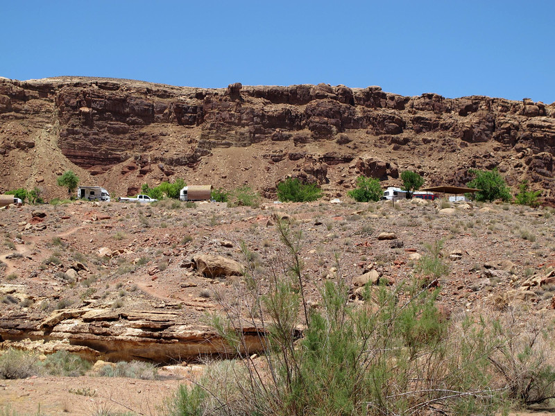 View of the campground from below.