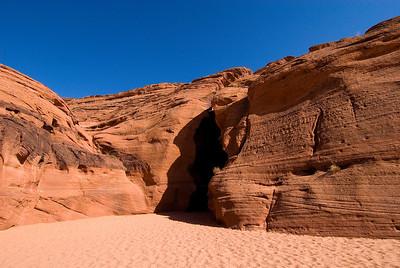 Upper Antelope Canyon entrance, Navajo Nation