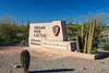 Entrance sign at the Organ Pipe Cactus National Monument, Arizona, USA.