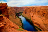 The Colorado river in a deep canyon near Page, Arizona, USA.