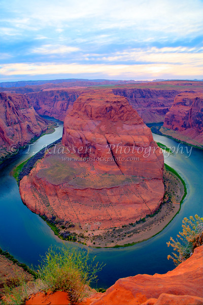 The Horseshoe Bend of the Colorado River near Page, Arizona, USA.