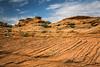 Textured rock formations near Page, Arizona, USA.