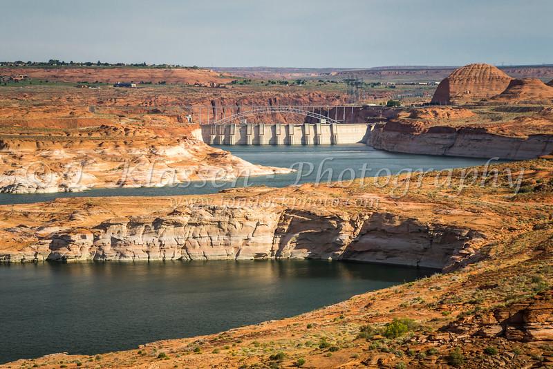 Lake Powell created by the Glen Canyon Dam near Page, Arizona, USA.